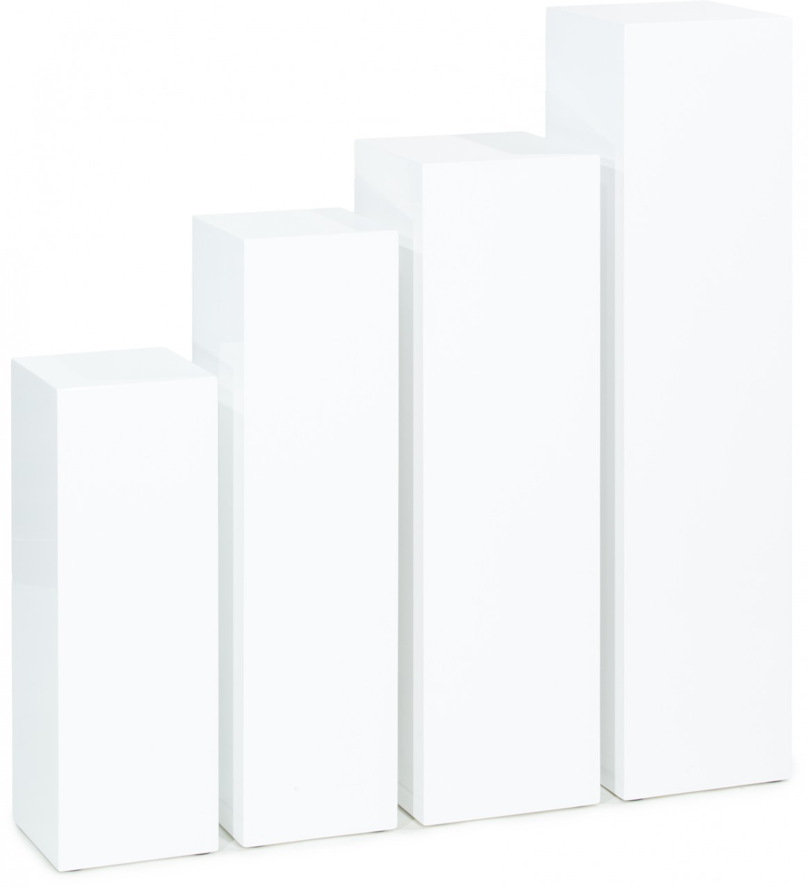 SKY Säule, 25x25/70 cm, weiß hochglanz